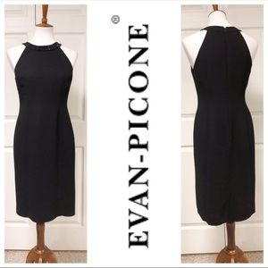 Evan Picone Little Black Sleeveless Dress 4